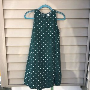 Old Navy Green Polka Dot Mini Dress
